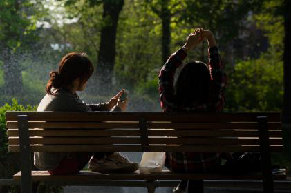 attachment disorder redefined - women on a bench